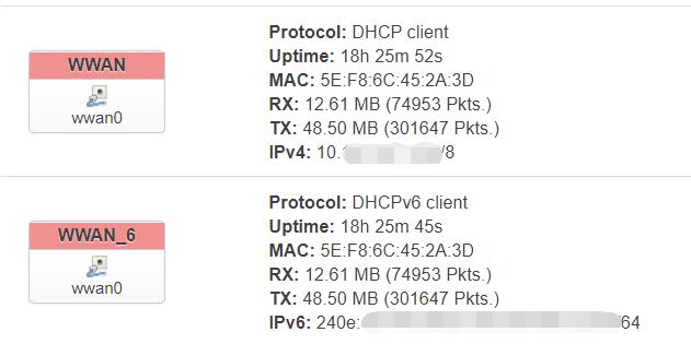 OpenWRT 4G using MBIM